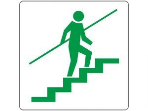 Указателни стикери за стълби