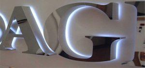 Обемни букви с подсветка за външна реклама