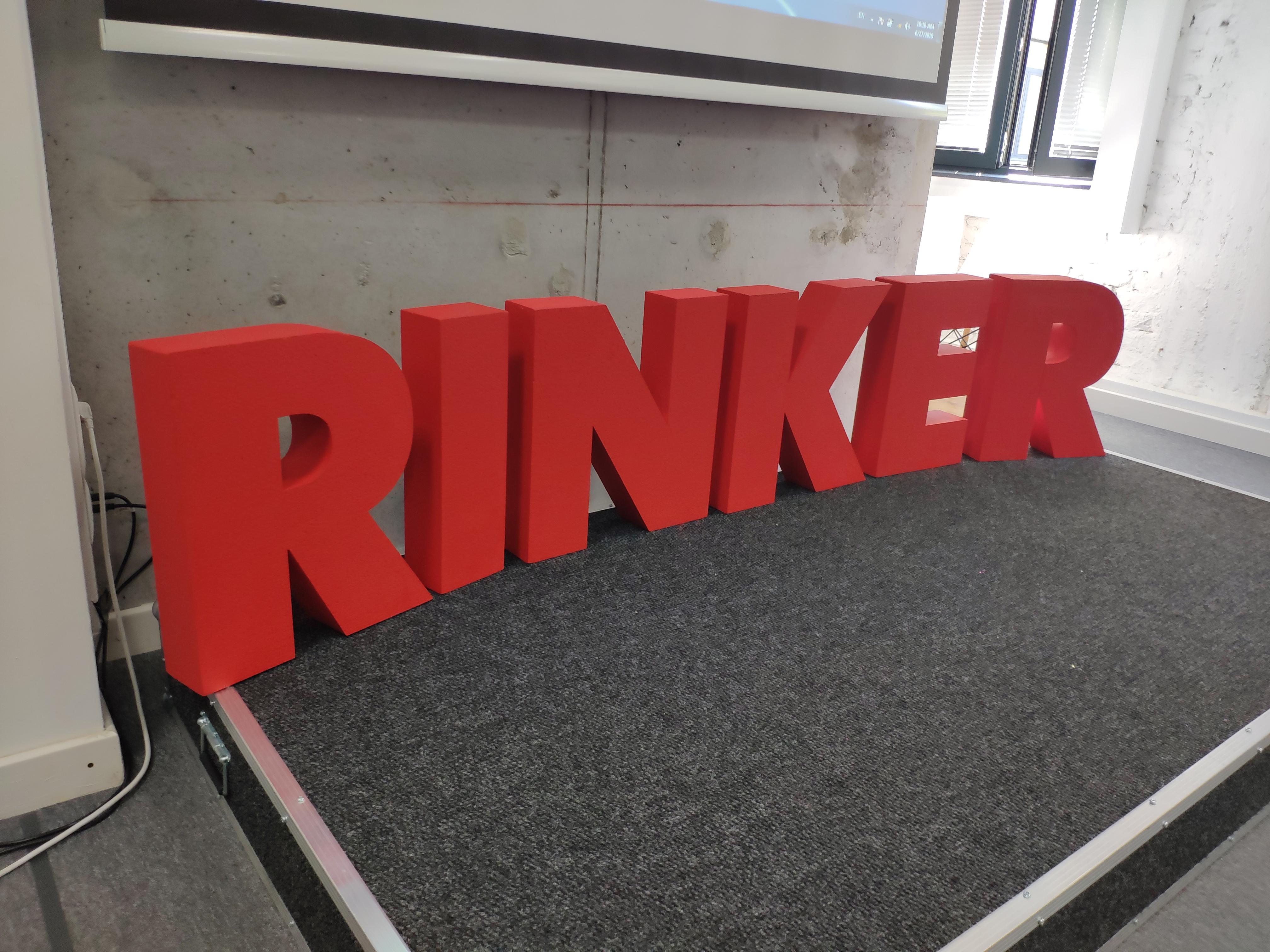 букви от стиропор ринкер