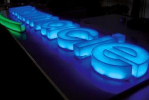 Светещи букви и светещо лого за нощна реклама в София с подсветка